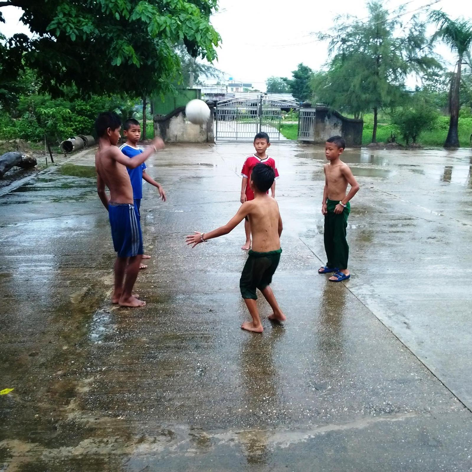 Myanmar children football