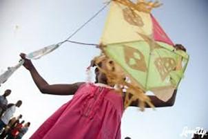 Haiti Easter kite flyign