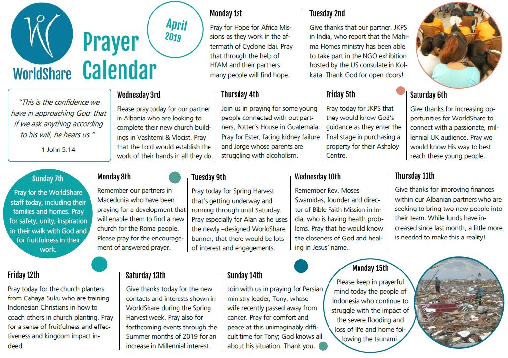 Prayer Calendar Apr 2019.
