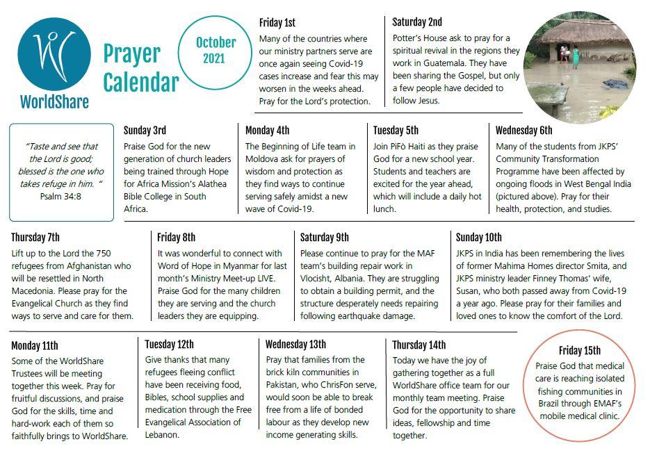 Screenshot Prayer Calendar Oct