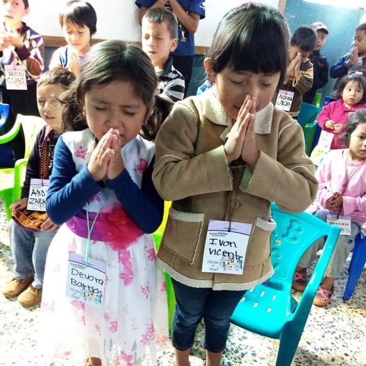 Summer Bible School - Potter's House praying