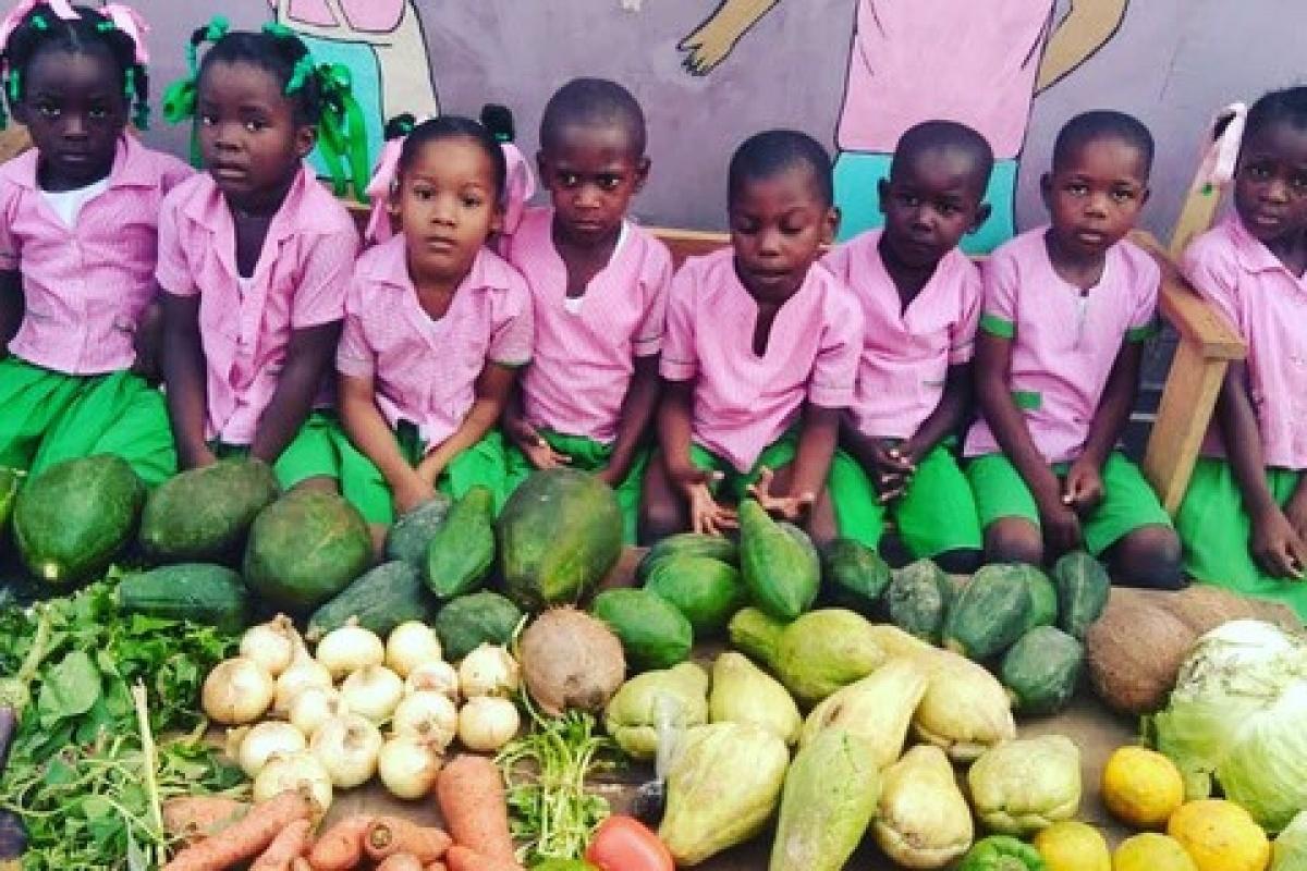 The new PiFò Haiti children's food program.